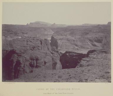 Canon of the Colorado River near Mouth of San Juan River, Arizona.