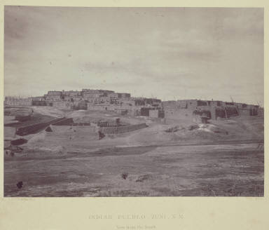 Indian Pueblo, Zuni, N. M. View from the South.