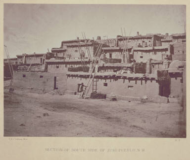 Section of South Side of Zuni Pueblo, N. M.