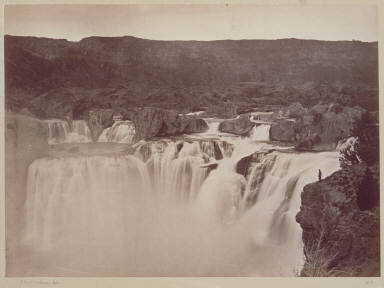 Shoshone Falls, Snake River, Idaho Falls, lateral view, on upper level.