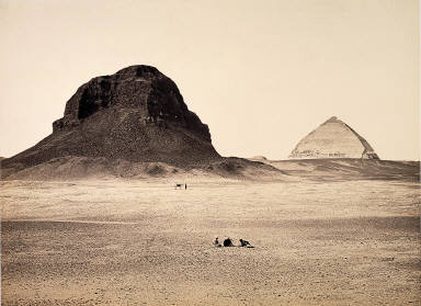 The Pyramids of Dahshoor, From the East