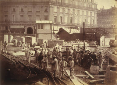 Work yard in front of the Paris Opera