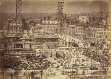 General view of construction site, Paris Opera