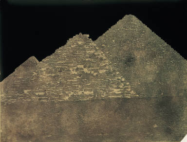 Two small pyramids, Pyramid of Ekphrenes in distance.