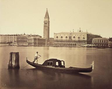 Veduta del Molo e Palazzo Ducale con la Gondola.