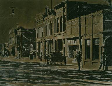Western street scene