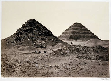 The Pyramids of Sakkarah From the North-East