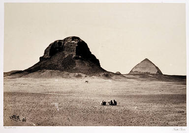 The Pyramids of Dahshoor. From the East