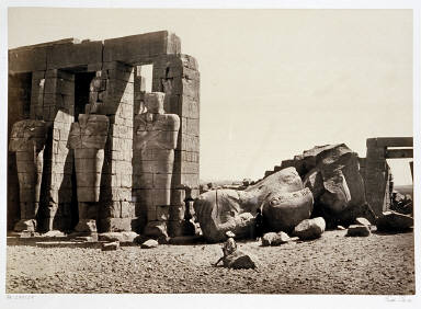Osiride Pillars and Great Fallen Colossus, The Memnonium Thebes