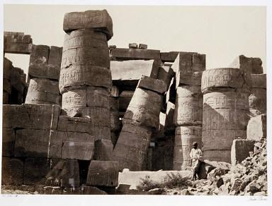 Pillars in the Great hall, Karnac