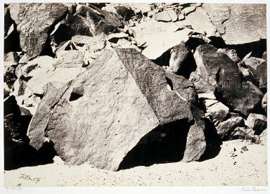 Sinaitic Inscriptions in Wadee El-Mukattab, Sinai