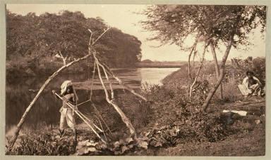 Berar. Irrigation with Hand Basket
