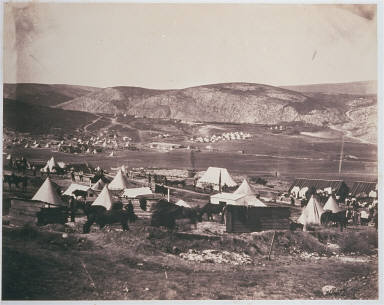 Camp of the 5th Dragoon Guards
