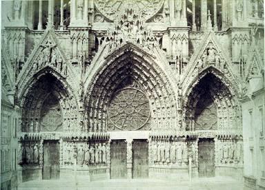 Rheims Cathedral, facade, portals