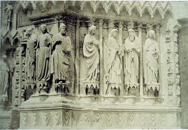 Reims Cathedral, detail, jamb figures