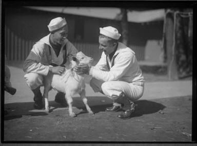 Two Sailors with a Goat
