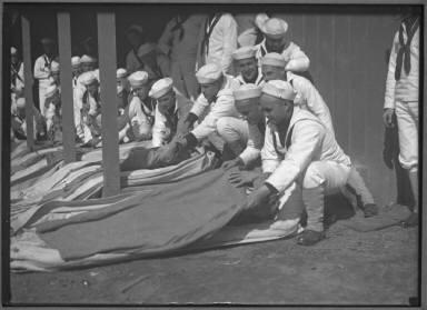 Sailors with Bedrolls