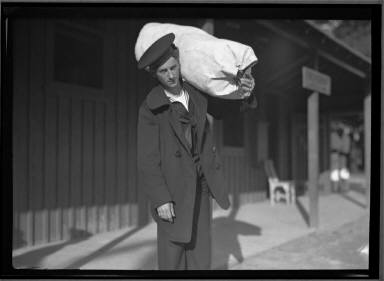 Sailor Carrying Sack with belongings Naval Reserve