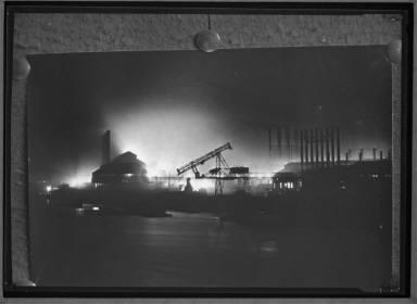 1915 Steel Mills at Night