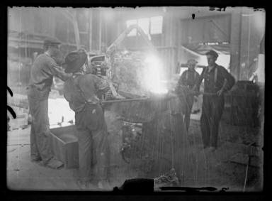 Pouring hot iron- the old way 1909