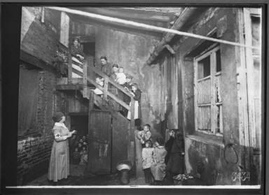 Women and Children on Stairway