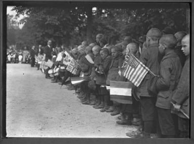 Alsatian Orphans Singing Stars And Stripes;Marseilles....