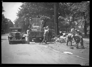 Cleaning Street, Debris