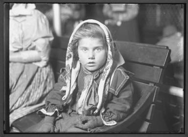 Italian Child Gets Her First Penney Ellis Island 1926