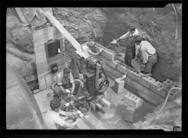 Men Working on Brick Foundation
