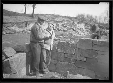 Two Men Building Stonewall