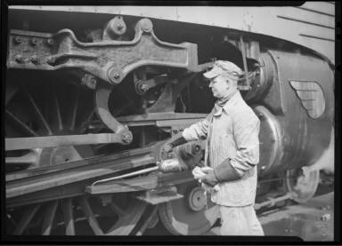 Engineer with Train