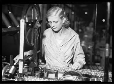 Woman with Machine