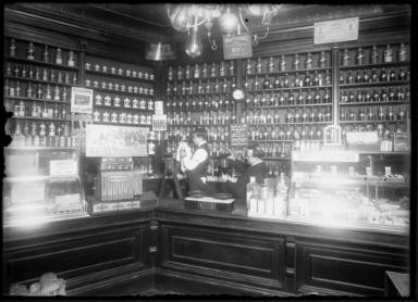 Drug Store 1912 with Clerks