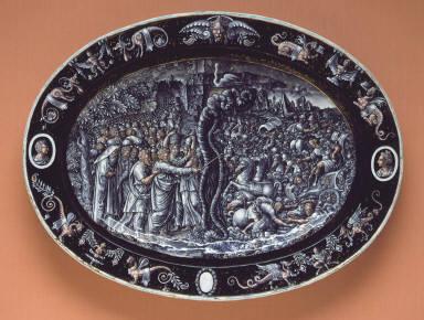 Platter: Abram Returning the Goods of the King of Sodom