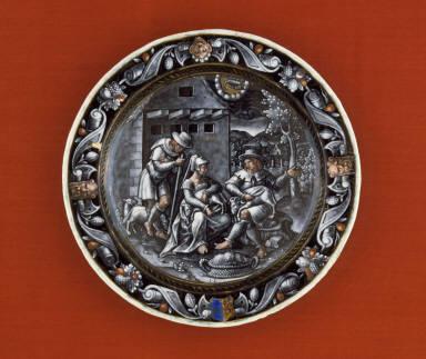 Plate: June (Sheepshearing)