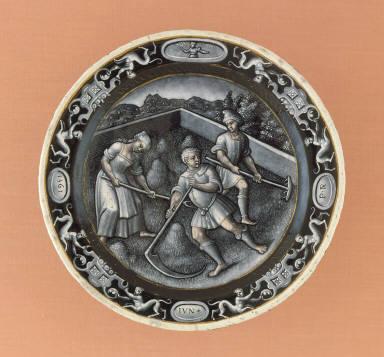 Plate: June (Mowing)