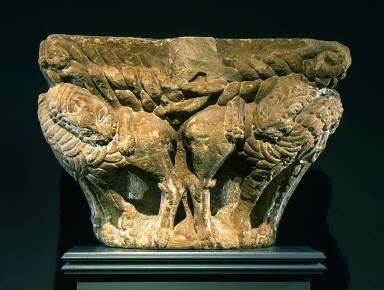 Capital with Two Pairs of Fighting Lions