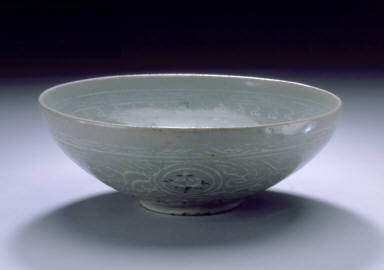 Bowl with Flowers in Medallions and Clouds
