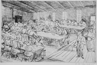 [(workers eating), plate 3, Industry, Industrie, Untitled]