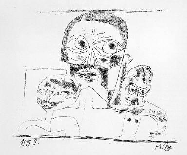 [Deluxe edition, Drei Köpfe, Müncher Blätter für Dichtung und Graphik 1, no. 3, Munich sheets for Poetry and Graphic Art 1, no. 3, Three heads]