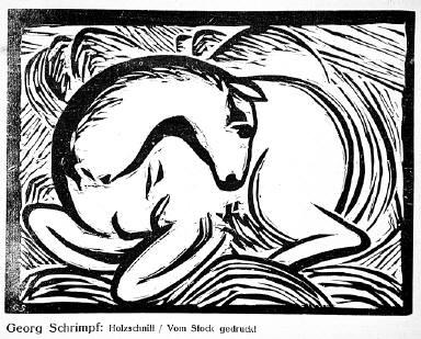 [8, no. 3 (1917), page 33, Der Sturm, (horses), Untitled]