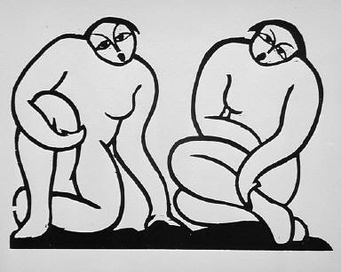 [Untitled, (two seated nudes), An Dich--Erde!, page 9]