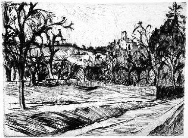 [Landscape, Landschaft, Zeitschrift für bildende Kunst, 30, no. 1/2 (1918-1919), following page 36]