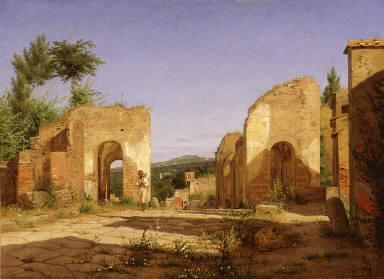 Gateway in the Via Sepulcralis in Pompeii