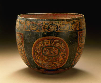 Vessel with Glyphic Text