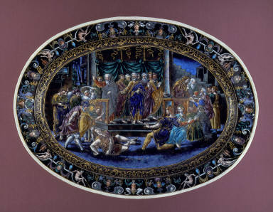 Oval platter: The Death of Ananias