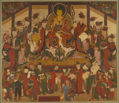 Ksitigarbha (Chijang) and the Ten Kings of Hells (Sibwang)