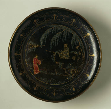 Dish (Pan) with Scholars in a Landscape