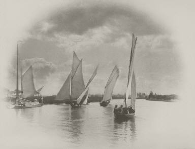 [A Sailing Match at Horning, Life and Landscape on the Norfolk Broads]