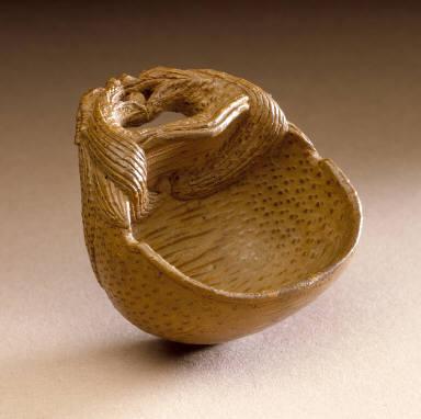 Sake Cup Shaped Like a Buddhist Gong